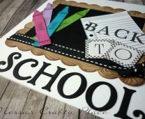 Back To School Blackboard Card