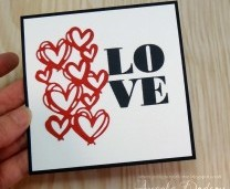 A Simple Valentines Card - Step by Step