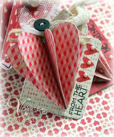 3d paper heart card