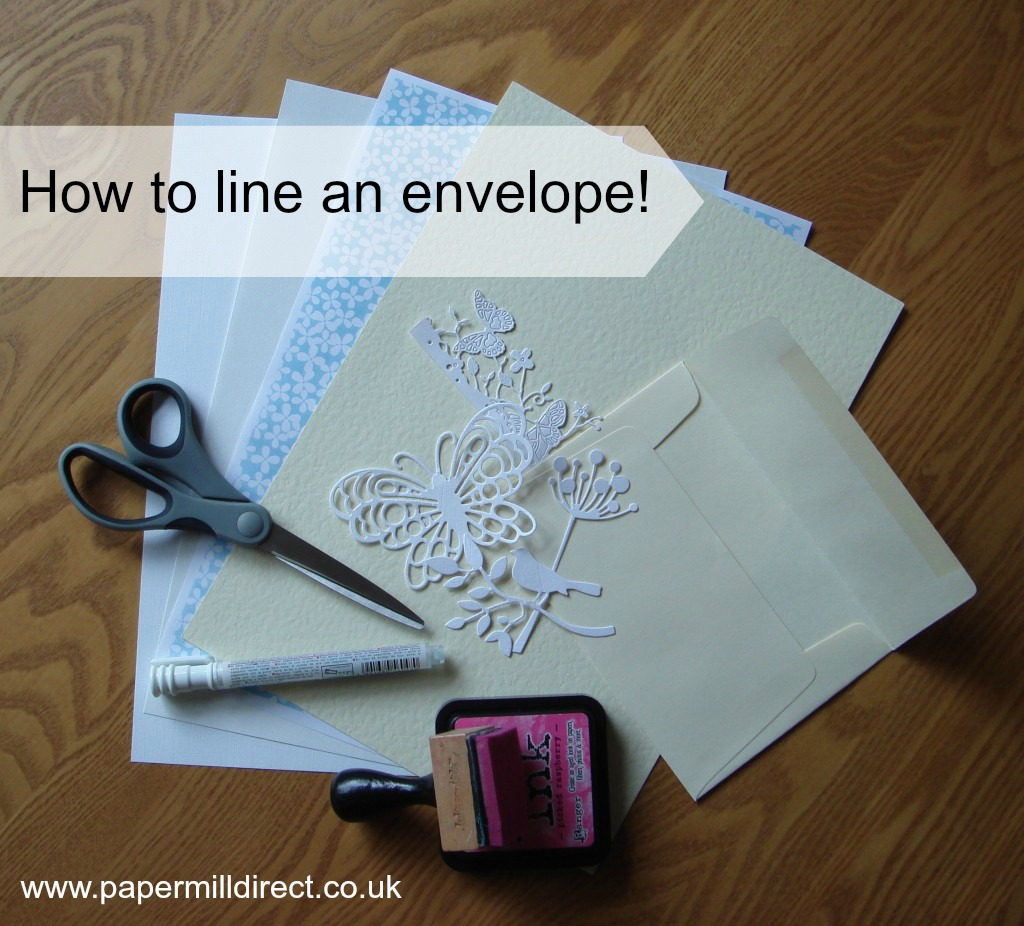 How to line an envelope and make matching note cards papermilldirect