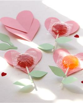 Paper Heart Lollipops
