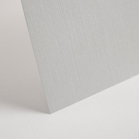 white linen embossed card