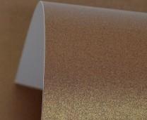 Cocoa Bean Lustre Print Gold Card 300gsm