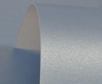 Maya Blue Lustre Print Silver Card 300gsm