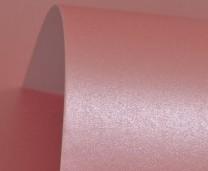 Persian Pink Lustre Print Silver Card 300gsm