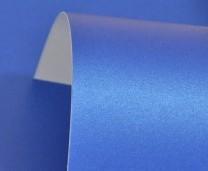 Yale Blue Lustre Print Silver Paper 100gsm