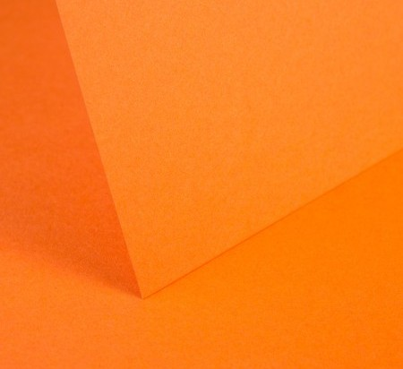 Bright Orange Smooth Card - Set Swatch