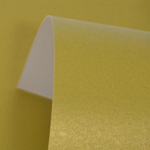 Henna Lustre Print Gold Card 300gsm
