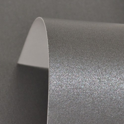 Charcoal Lustre Print Silver Card 300gsm