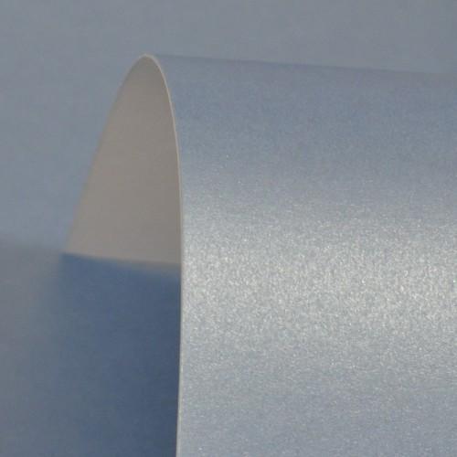 Maya Blue Lustre Print Silver Paper 100gsm