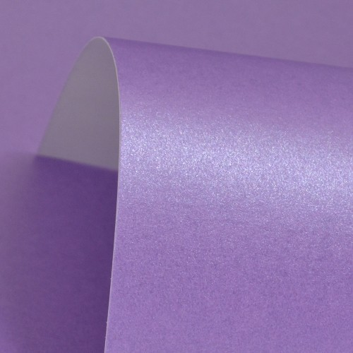 Periwinkle Lustre Print Silver Paper 100gsm