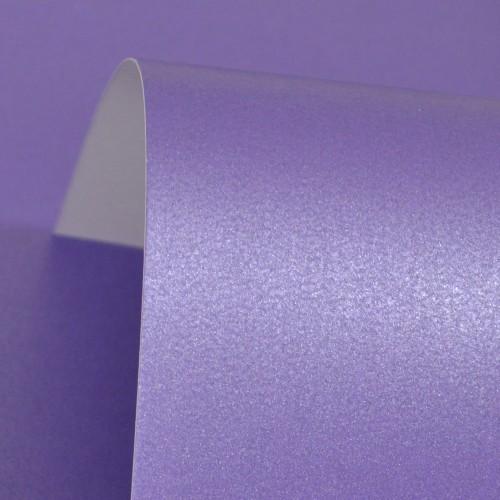 Plum Lustre Print Silver Card 300gsm