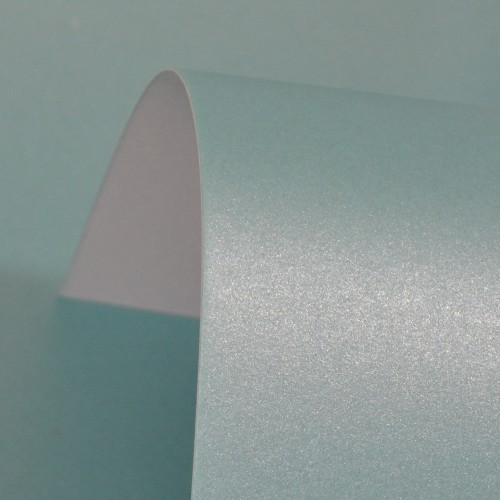 Sea Blue Lustre Print Silver Paper 100gsm