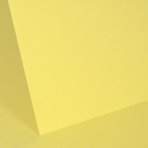 Pastel Canary Plain Card