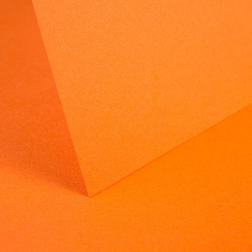 Bright Orange Smooth Card - Set Swatch