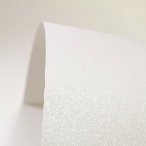 Natural White Paper Pearlised - Set Swatch